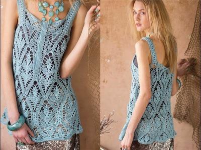 #6 Tunic-Length Tank Top, Vogue Knitting Crochet 2014