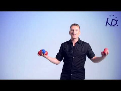 7-ball juggling demonstration, how to juggle