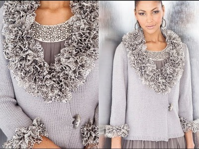 #9 Ruffle Wrap Cardigan, Vogue Knitting Early Fall 2012