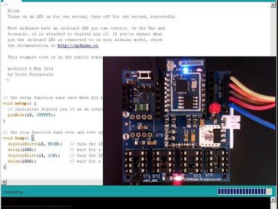 Arduino IDE test - ESP8266 CBDBv2 Evolution DevBoard