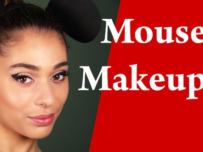 ARIANA GRANDE -  PROBLEM mouse ears look makeup tutorial – Minnie Mouse Halloween make-up tutorial