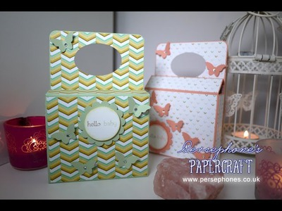 Baby Gift Box with Handle | Stampin' Up (UK) with Persephone's Papercraft