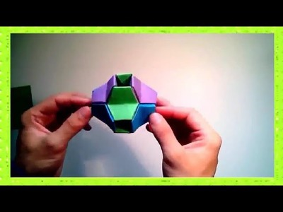 Best Origami - How to make 3D modular origami (little turtle)