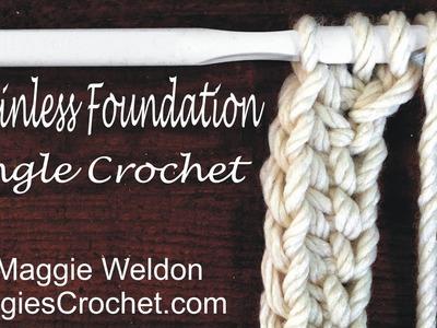 Chainless Foundation Single Crochet Left