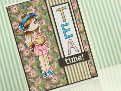 Charlie with teapot - Copic Coloring and Card Tutorial Craft 1080p