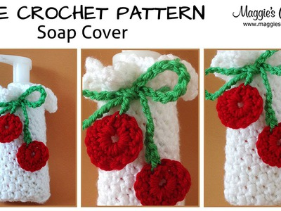 Cherry Soap Dispenser Cover Free Crochet Pattern - Right Handed