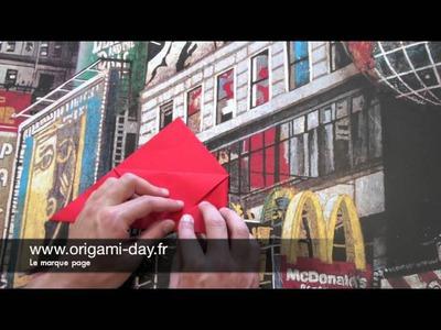 Comment faire un marque page en origami