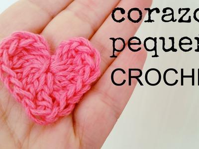 Cómo hacer un CORAZÓN Pequeño a Crochet - Paso a Paso
