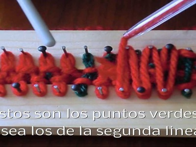 Como tejer cojín navideño con lana Parte 1 (How to do a Christmas knitting wool pad Part 1)