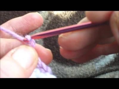 Crochet 2 colour chain edging
