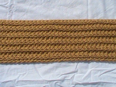 Crochet a knit looking fabric