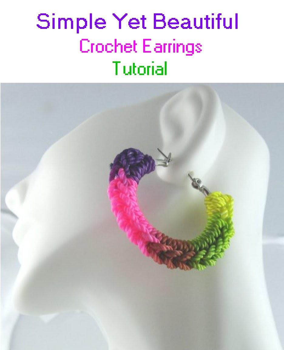 Crochet Hoop Earrings Tutorial | Simple Yet Beautiful!