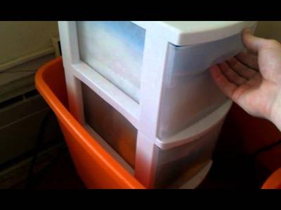 DIY aquarium overflow and sump filter