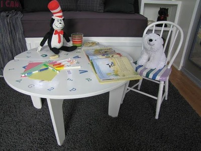 DIY Divas - Kids Chair & Table, Stain & Stencil  Makeover Project