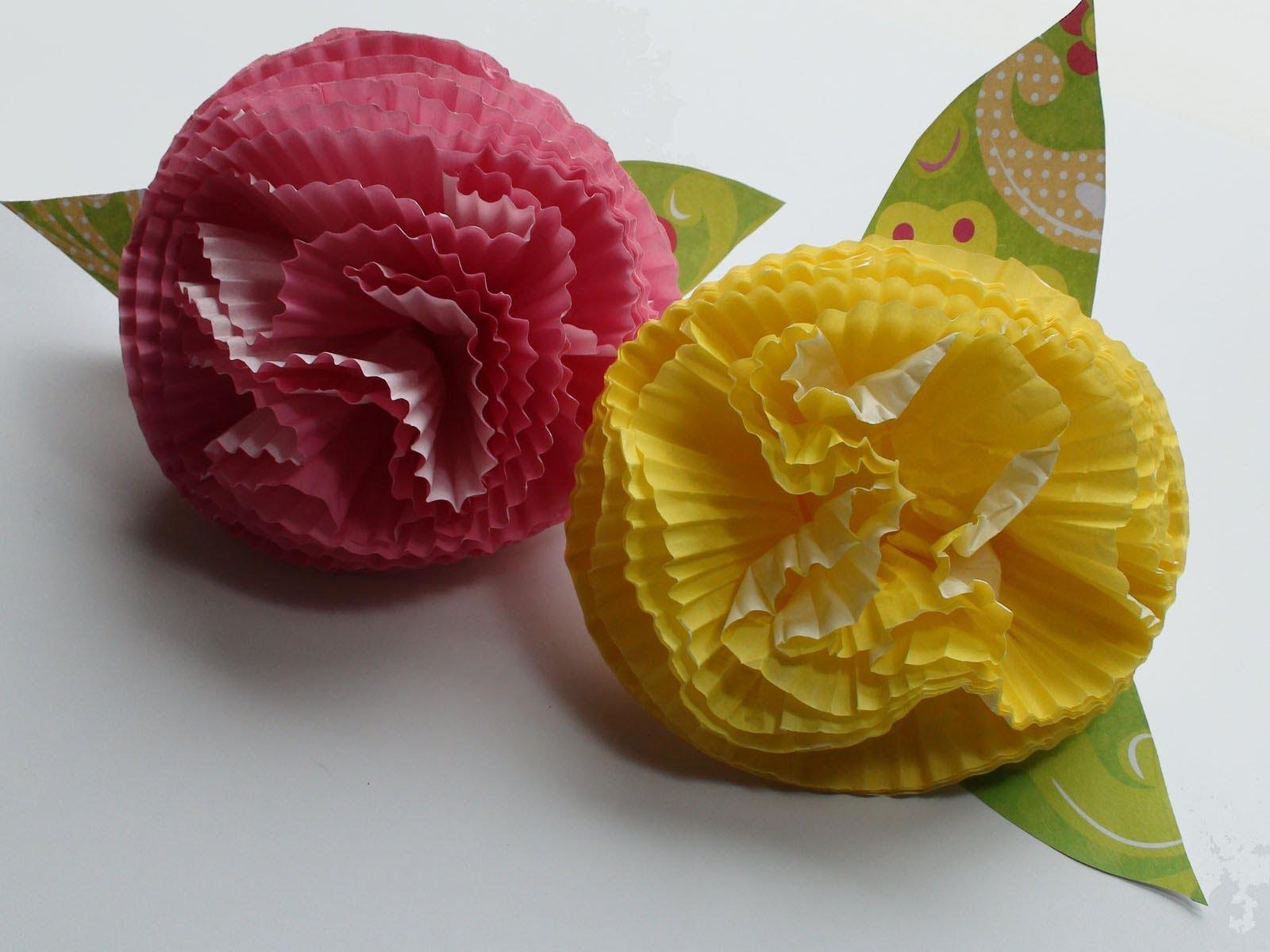 DIY: How To Make Easy Cupcake Liner Flowers