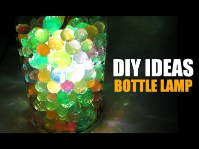 DIY Ideas - How to Make Bottle Lamp, Recycled Bottle Lamp, Room Decor Ideas, Home Decor Ideas,