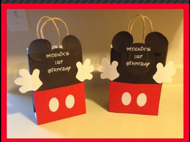 DIY-MICKEY MOUSE GOODIE BAG