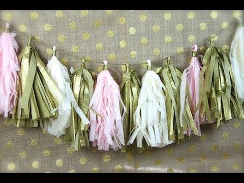 DIY Tissue PomPom Garland| ShowMeCute
