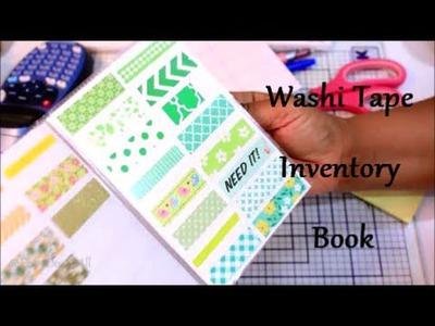 DIY: Washi Tape Inventory Book