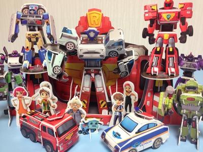 또봇장난감 만들기7 Making Tobot Paper Toys Craft 뽀로로 꼬마버스 타요 카봇 또봇 장난감  Surprise Opening Unboxing