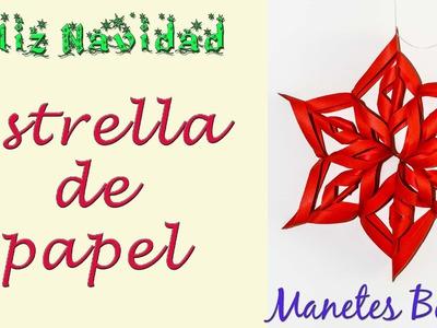 Estrella de Navidad | Viernes de papel - Tutorial DIY