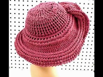 1642af5de46 Easy to crochet sun hat. summer hat. gorra para el sol y verano