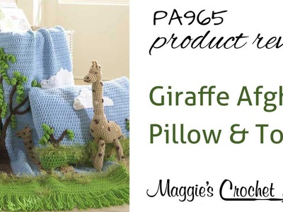 Giraffe Afghan, Pillow and Toy Product Review PA965