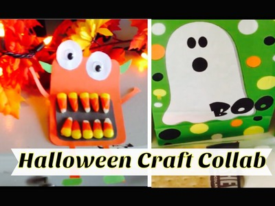 HALLOWEEN CRAFT COLLAB | HALLOWEEN TREAT BAG and CANDY CORN MONSTER CRAFT