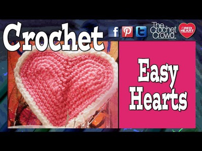 How to Crochet Hearts Tutorial