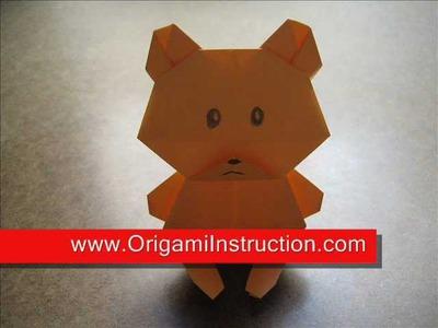 How to Fold Origami Teddy Bear   OrigamiInstruction com
