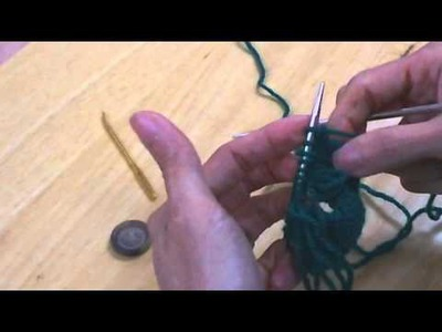 How To Knit a Button Hole
