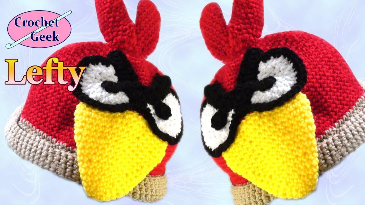 How to Make a Angry Bird Crochet Hat - Left Hand Version Crochet Geek