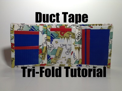 How to Make a Duct Tape Tri-Fold Wallet Tutorial!! An easy DIY Project!