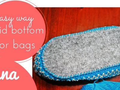How to make a rigid bottom for bags