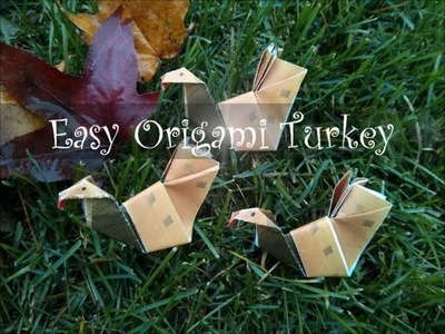 How to Make an Easy Origami Turkey for Thanksgiving (Difficulty 3.10)