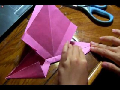 How to make an origami bow.wmv