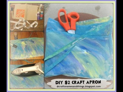 How to Make Crafter's Apron Tutorial. $2 00 DIY Craft Apron
