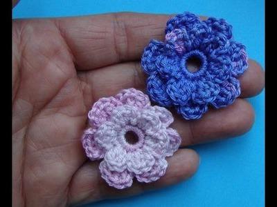 Как вязать цветок Урок 50 Сrochet flower pattern for free