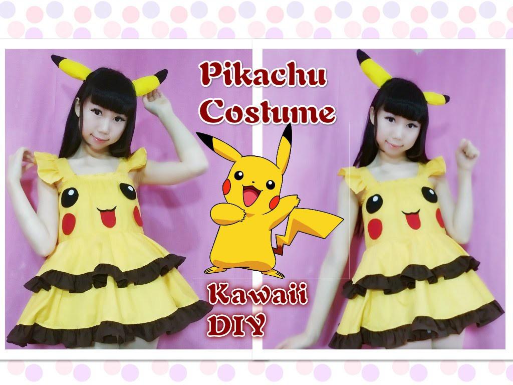 Kawaii DIY - Pokemon Pikachu Dress.Costume (Easy)