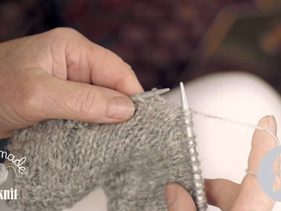 Knitting Made Easy - How to do a plain stitch