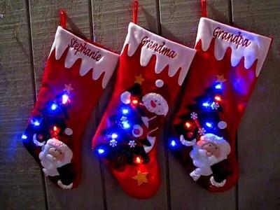 Light Up Christmas Stockings with LED Lights