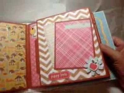 Mini album for Claudette and her cute doggies Roxy and Fuji -- scrapbooking mini album