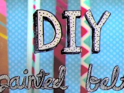 ModCloth's DIY Boss Contest: DIY Painted Belt