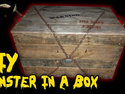 Monster in a Box, DIY Halloween Haunted House Prop