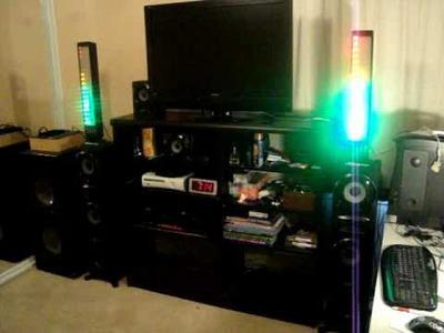 My Sound System Lights & homemade subwoofer diy