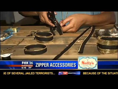 Natural Resources Segment on Sally's Shabby Chic: DIY Zipper Fashion Accessories