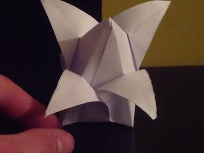 Origami bouton de lotus - Faire une fleur en pliage