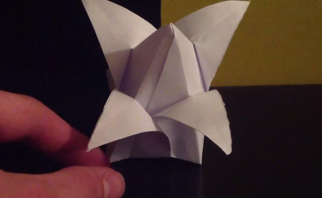 origami bouton de lotus faire une fleur en pliage. Black Bedroom Furniture Sets. Home Design Ideas