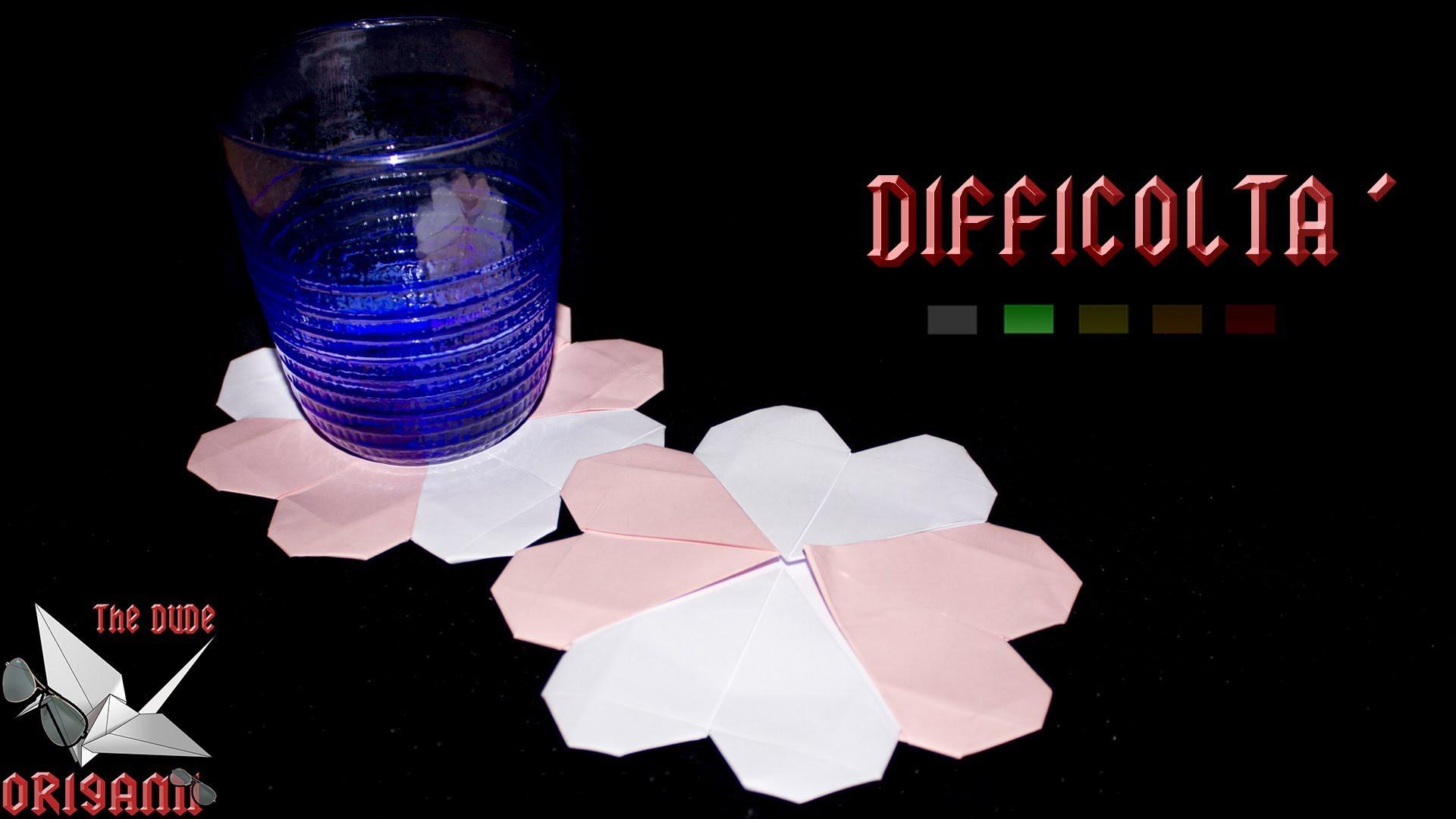 [ORIGAMI ITA] Sottobicchiere Cuore (Francis Ow)    Origami Decorativi.Utili.San Valentino