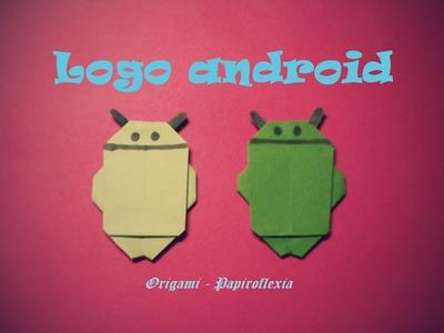 Origami - Papiroflexia. Logo android, simple de hacer